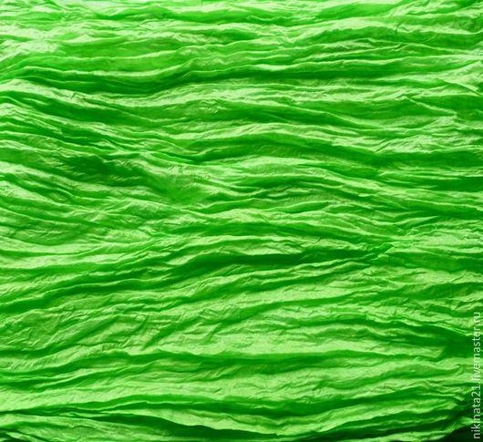 """Шали, палантины ручной работы. Ярмарка Мастеров - ручная работа. Купить """"Хризолит"""" Палантин из натурального шелка. Handmade. Ярко-зелёный"""