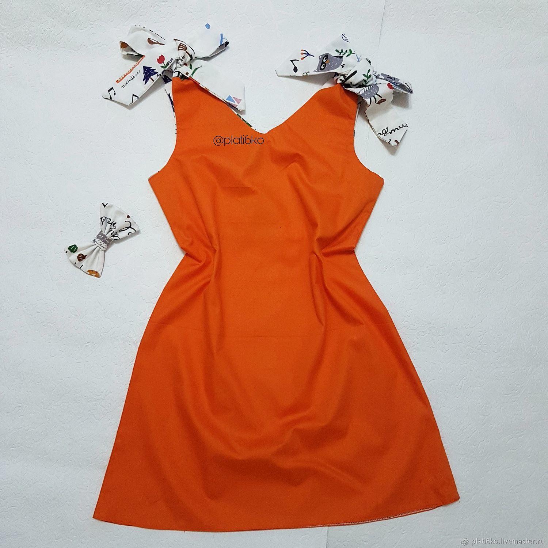 """Одежда для девочек, ручной работы. Ярмарка Мастеров - ручная работа. Купить Детское платье для девочки Сарафан """"Оранж"""". Handmade. Сарафан"""