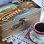 Для дома и интерьера ручной работы. Ярмарка Мастеров - ручная работа Чайная шкатулка Чайная торговля. Handmade.