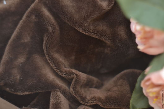 Куклы и игрушки ручной работы. Ярмарка Мастеров - ручная работа. Купить ПЛЮШ-НОВ КОРИЧНЕВЫЙ (50х50 см; коротковорсный). Handmade.