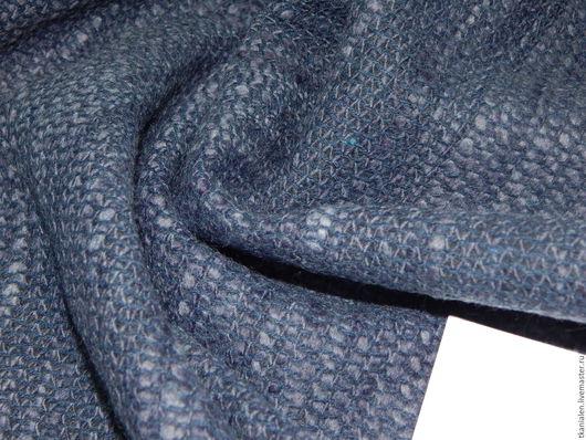 Шитье ручной работы. Ярмарка Мастеров - ручная работа. Купить Итальянская шерсть Bottega Veneta. Handmade. Тёмно-синий, пальто