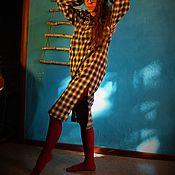 Одежда handmade. Livemaster - original item Urban amazon dress in a cage with a hood. Handmade. Handmade.