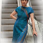Одежда handmade. Livemaster - original item Felted dress made of 100% wool and silk.. Handmade.