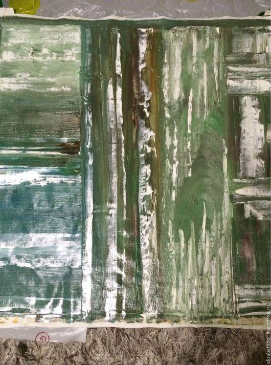 """Абстракция ручной работы. Ярмарка Мастеров - ручная работа. Купить """"Лес"""". Handmade. Картина, дерево, зелень, текстура, интерьер, офисс"""