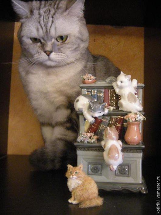 Миниатюра ручной работы. Ярмарка Мастеров - ручная работа. Купить Рыжий с белым кот. Handmade. Рыжий, кот, счастье, миниатюра