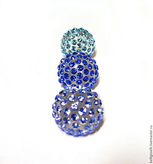 """Кольца ручной работы. Ярмарка Мастеров - ручная работа. Купить Кольцо с кристаллами Сваровски """"Mare blu"""". Handmade. Кольцо"""