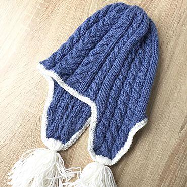 Одежда ручной работы. Ярмарка Мастеров - ручная работа Женская шапка с ушами и кисточками. Handmade.