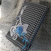 """Канцелярские товары ручной работы. Ярмарка Мастеров - ручная работа Блокнот """"С голубой розой"""". Handmade."""