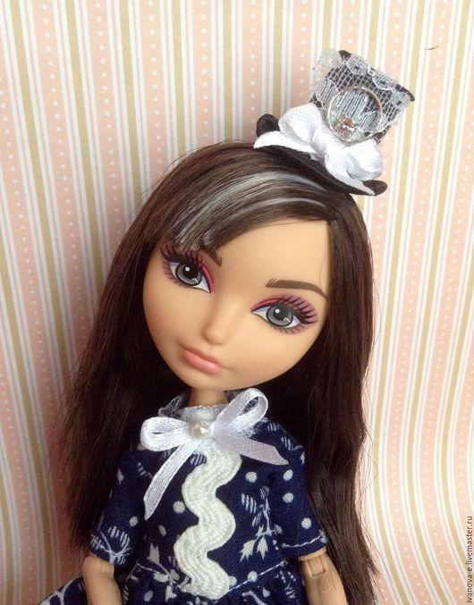 Одежда для кукол ручной работы. Ярмарка Мастеров - ручная работа. Купить Шляпка для кукол. Handmade. Комбинированный, текстиль