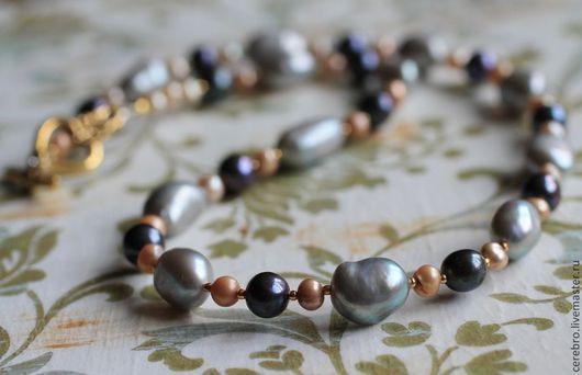 """Колье, бусы ручной работы. Ярмарка Мастеров - ручная работа. Купить """"Маркиза"""" ожерелье из барочного жемчуга. Handmade. барочный жемчуг"""