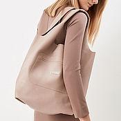 Сумки и аксессуары handmade. Livemaster - original item Pink satchel Bag medium leather bag shopper Bag t-shirt Bag. Handmade.