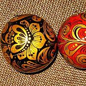 """Подарки к праздникам ручной работы. Ярмарка Мастеров - ручная работа Новогодний шар-тайник """"Хохлома"""". Handmade."""