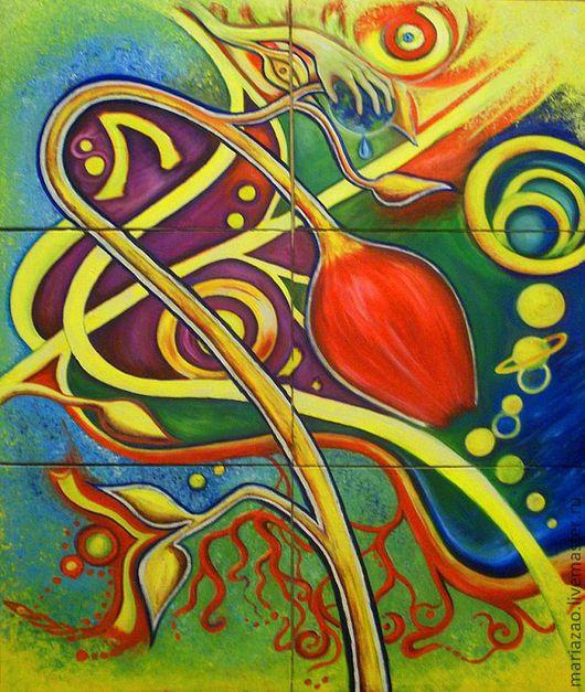 """Символизм ручной работы. Ярмарка Мастеров - ручная работа. Купить """"Мозаика"""". Handmade. Холст масло, Живопись, картина в подарок"""