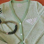 """Одежда ручной работы. Ярмарка Мастеров - ручная работа Кардиган """"Кружевная мята"""". Handmade."""