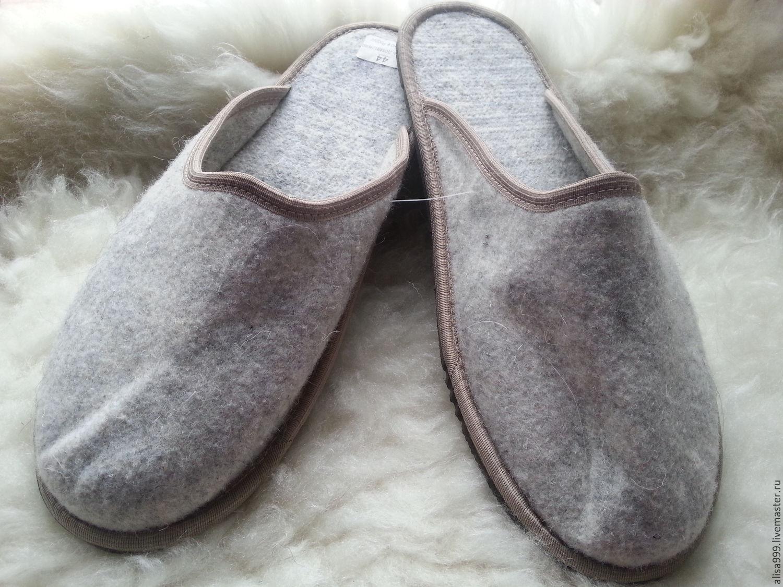 fc21584747d2e Обувь ручной работы. Ярмарка Мастеров - ручная работа. Купить Тапочки из  войлока.