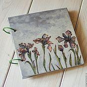 "Канцелярские товары handmade. Livemaster - original item Notepad 22x22sm ""Irises inthe fog"". Handmade."