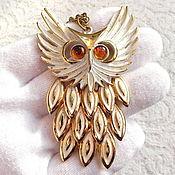 Винтаж handmade. Livemaster - original item Pendant with chain owl,United States,pendant,owl,bird,owl. Handmade.