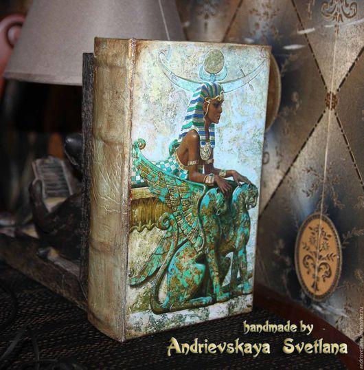 Шкатулки ручной работы. Ярмарка Мастеров - ручная работа. Купить Шкатулка-книга для карт Таро Исида. Handmade. Тёмно-бирюзовый