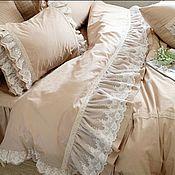 handmade. Livemaster - original item Retro style satin bed linen !. Handmade.