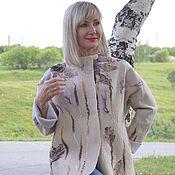 Одежда ручной работы. Ярмарка Мастеров - ручная работа Жакет валяный светлый бежевый  Утренний кофе. Handmade.