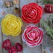 Свечи ручной работы. Ярмарка Мастеров - ручная работа Свеча - роза. Handmade.