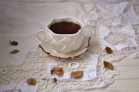 Кружки и чашки ручной работы. Ярмарка Мастеров - ручная работа. Купить Чашка Лотос с бронзовым краем. Handmade. Чашка, йога