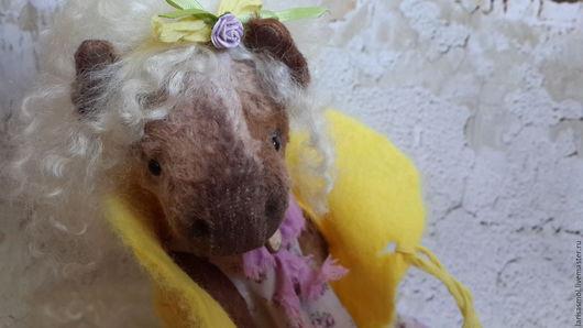 Мишки Тедди ручной работы. Ярмарка Мастеров - ручная работа. Купить Одувашка 33см. Handmade. Желтый, друзья тедди, любимой
