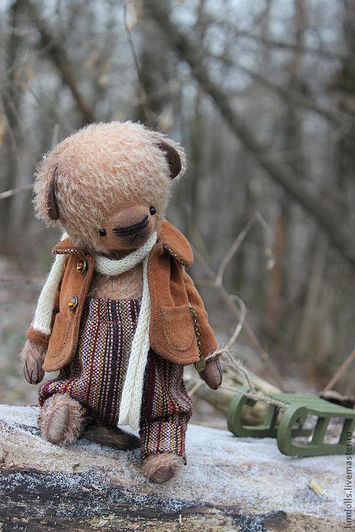 Мишки Тедди ручной работы. Ярмарка Мастеров - ручная работа. Купить Последний Романтик. Handmade. Коричневый, влюбленный, синтепух, мулине