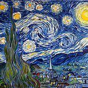 Картины и панно ручной работы. Ярмарка Мастеров - ручная работа Звездная ночь (по мотивам картины Ван Гога). Handmade.