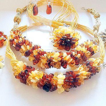 Decorations handmade. Livemaster - original item Jewelry sets: