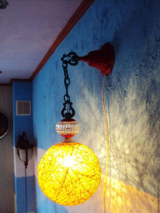 Освещение ручной работы. Ярмарка Мастеров - ручная работа. Купить Светильник БРА. Handmade. Ярко-красный, светильник, винтаж