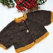handmade. Livemaster - original item Knitted cardigan blouse for dolls, doll clothes. Handmade.
