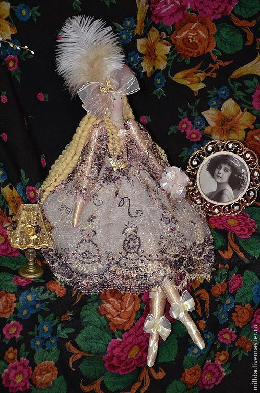 Коллекционные куклы ручной работы. Ярмарка Мастеров - ручная работа. Купить Принцесса Бланш. Handmade. Кремовый, атлас, перо страуса