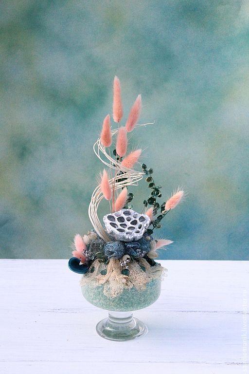 Интерьерные композиции ручной работы. Ярмарка Мастеров - ручная работа. Купить Нежность. Handmade. Декор для интерьера, композиция из сухоцветов