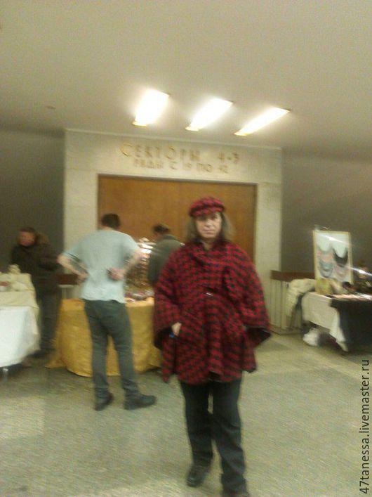 Верхняя одежда ручной работы. Ярмарка Мастеров - ручная работа. Купить комплект Пальто -пончо унисекс с шарфом. Handmade. весна
