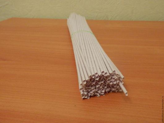 Другие виды рукоделия ручной работы. Ярмарка Мастеров - ручная работа. Купить трубочки бумажные. Handmade. Белый, для плетения