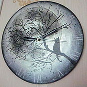 """Для дома и интерьера ручной работы. Ярмарка Мастеров - ручная работа """"Полнолуние """" часы интерьерные. Handmade."""