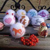 Подарки к праздникам ручной работы. Ярмарка Мастеров - ручная работа Вязаные елочные шары Разноцветные. Handmade.