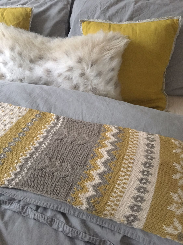scarf, norwegian ornament, knitting, jacquard, long scarf,