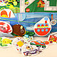 """Развивающие игрушки ручной работы. Развивающий коврик """"Транспорт"""". Наталья Легкая. Интернет-магазин Ярмарка Мастеров. Развивающие игры, фетр"""