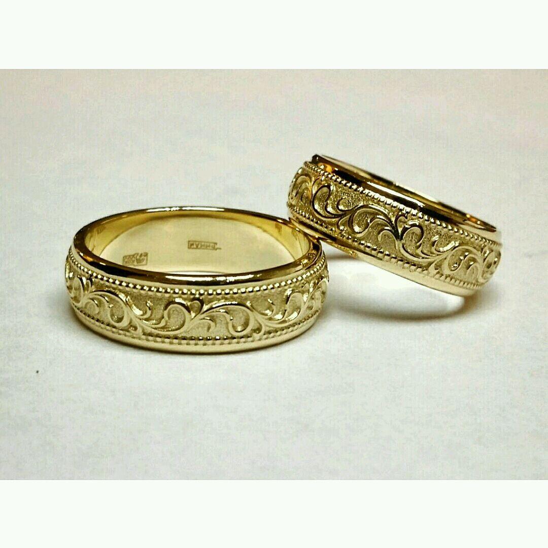 золотые кольца ручной работы