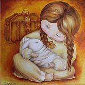Картины и панно ручной работы. Ярмарка Мастеров - ручная работа Мой зайчик. Handmade.