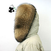 handmade. Livemaster - original item Chic selemeneva the edge of the hood from raccoon fur HV-12. Handmade.