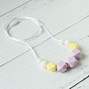 Одежда handmade. Livemaster - original item Slingobusy silicone pale yellow and lilac. Handmade.