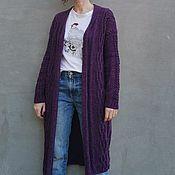 Одежда handmade. Livemaster - original item Long cardigan with Arana`s Purple cardigan. Handmade.
