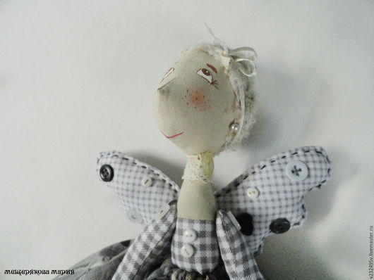 Коллекционные куклы ручной работы. Ярмарка Мастеров - ручная работа. Купить Фейка-Швейка бабуля Шпулька. Handmade. Серый, фея