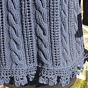 """Одежда ручной работы. Ярмарка Мастеров - ручная работа Пуловер вязаный """"Синие тюльпаны"""". Handmade."""