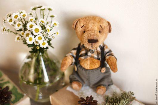 Мишки Тедди ручной работы. Ярмарка Мастеров - ручная работа. Купить Валерка. Handmade. Коричневый, мишка в подарок, медвежонок тедди