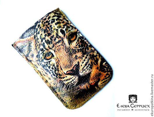 Для телефонов ручной работы. Ярмарка Мастеров - ручная работа. Купить Чехол для телефона из натуральной кожи арт.02. Handmade.