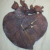 Для дома и интерьера ручной работы. Ярмарка Мастеров - ручная работа Керамические настенные часы Берёзовый Лист. Handmade.
